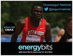 "OLUWASEGUN (SEGUN) MAKINDE: Oluwasegun is a Nigerian born Canada track and field 2012 Olympian! In 2013 Jeux de la Francophonie Games he won gold in both 200m and 4X100m relay. Also, he is a 2013 IAAF bronze medalist in the 4X100m relay. ""This is a product that I use extensively and partnering with this cutting edge company provides an excellent opportunity to associate my brand with a clean product."""