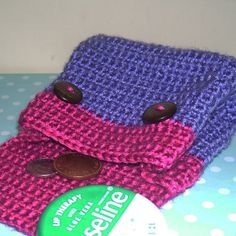 Crochet Purse by Giddystuff, Written using UK terms and abbreviations)