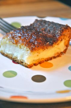 Make adjustments for Dukan - baked cream cheese squares with cinnamon and vanilla...