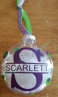 Personalized ornament - $8.00 each