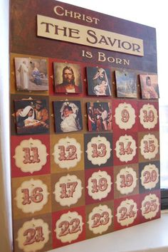 Advent Calendar (Sometimes we get so wrapped up in the festivities, we forget the true meaning. I love this one!!)