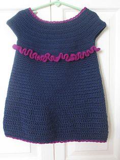 Crochet For Free: Easy Peasy Toddler Dress