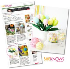 PRESS: DIY Easter Centerpiece on SheKnows.com by Bird's Party