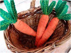 Felt Carrots/Feather Stitch