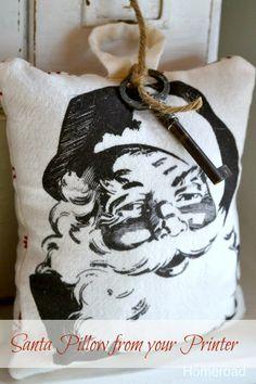 Santa pillow from your printer www.homeroad.net