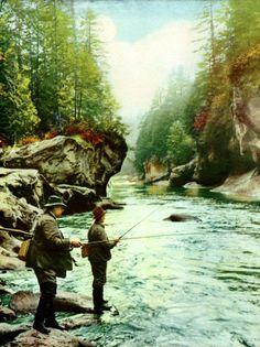 streamer flies - Old Fishing Photos