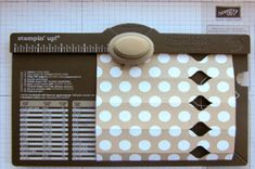 How to make a cracker treat holder with the Envelope Punchboard - Stampin' Up!