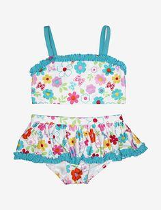 Penelope Mack 2-pc. Flower & Butterfly Print Bikini Swimsuit – Toddler Girls