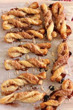 Cinnamon Sparkled Pastry Stix with Egg Nog Glaze - This looks and sounds delicious...