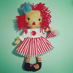 Queen Of Cotton Candy DIY Raggedy Ann Doll Pattern. Primitive Artist Sherry Marrero from anniescupboards.com on Etsy
