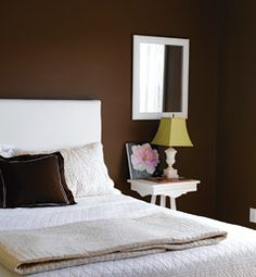 Rooms With A Brown Painted Wall On Pinterest Brown Walls Chocolate