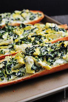 Spinach Artichoke Bread from addapinch.com