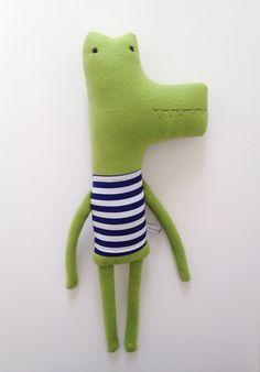 Plush Alligator Friend- Finkelstein's Center Handmade Creature Toy