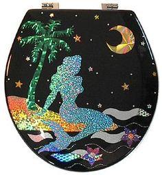 Mermaid Toilet Seat Design.