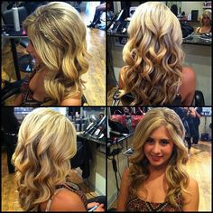 Loose curls with braid accents