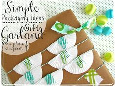 Great ideas for gift wrapping.
