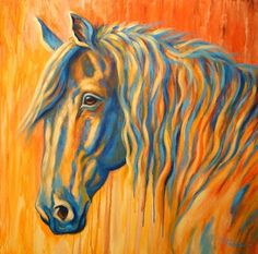 Large Abstract Horse Art by Theresa Paden