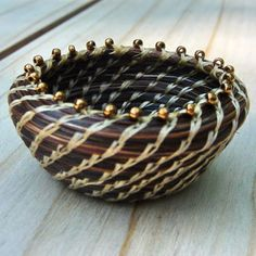 Horsehair Basket: Glorified Feed Bucket, MIniature Coiled Basket on Etsy, $75.00