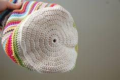 Colourful cotton bag tutorial.