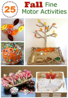 25 Fun Fall activities to help kids practice their fine motor skills - repinned by @PediaStaff – Please Visit  ht.ly/63sNt for all our ped therapy, school & special ed pins