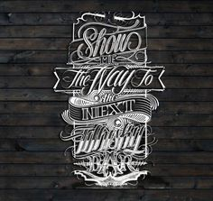 type-lover:  Show me the way… by Mateusz Witczak, via Behance