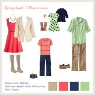 What to wear for family photos in the spring - clothing ideas for family pictures