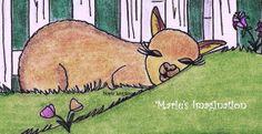Alpaca Cutie Napping (Closeup) Art by Marie Logston / Marie's Imagination