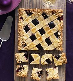 PB  J Linzer Torte: The popular combination of peanut butter and jelly provides the filling for this sensational torte recipe.
