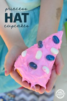 Make princess hat cupcakes for a little girls birthday party or just a fun kids treat!