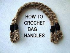 How to Crochet Bag Handles - Video Tutorial  ❥ 4U // hf