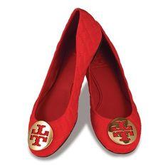 tori burch, style, red flat, burch quinn, shoes tory burch, red tory burch flats, red tori, quinn flat, burch shoe