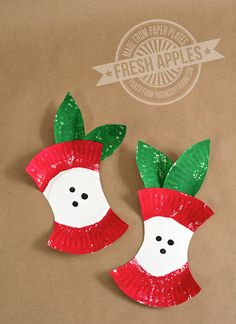 Mini Paper Plate Apples