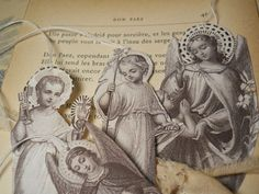 Le French Saint and Angels Gift Tags Ornaments