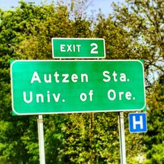Best exit in the world!! Eugene Oregon Autzen Stadium