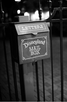 if you drop a letter in one the mailboxes at disneyland, it will be postmarked indicating disneyland as its point of origin.