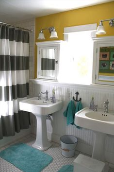 chevron room ideas | Our favorite bathroom update ideas