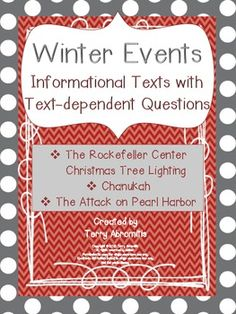 Winter Events:  3 Informational Texts with Questions