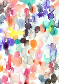 Gorgeous colors in this watercolor print.