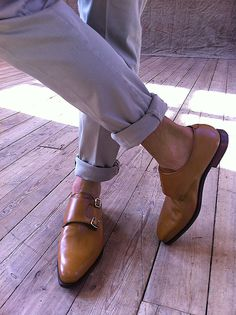 Double monk strap summer style