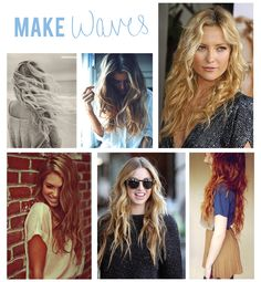 how to get beachy, wavy hair