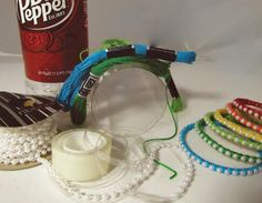 making bracelets from a plastic bottle...clever and cute!