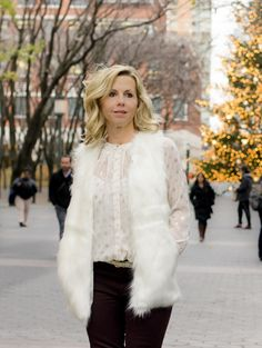 #sponsored Liz Claiborne faux fur vest and blouse available exclusively  @JCPenney.