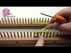 Loom Knitting Cast On Series: E-wrap