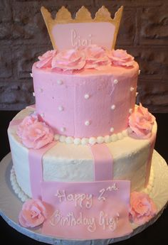 Minus the crown on top this could be a pretty wedding cake.  (maybe a different color too, but the design is pretty)
