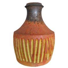 Fantastic vase/bottle by Marcello Fantoni marcello fantoni, italian ceram, raymor mid, fantast vasebottl, mid centuri, centuri italian