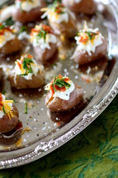 Mini Loaded Potato Super Bowl Footballs - naturally #glutenfree!