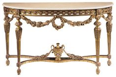 Louis XVI Console Table traditional-console-tables