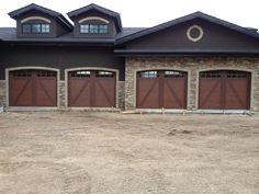Faux wood garage doors on pinterest garage doors for Composite garage doors that look like wood