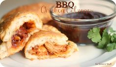 Quick Week Night Meal-Barbecue Chicken Calzones Recipe | Six Sisters' Stuff