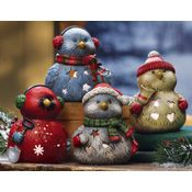 Holiday Bird Tealight Holders